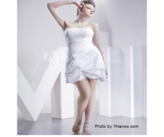 http://tinyurl.com/c2hlbc4 White Strapless Beaded Sash Satin Prom Dres