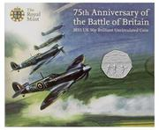 royal mint 75th aniversary battle britain coin
