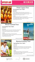 20% OFF Holiday Tours to Sri Lanka,  last minute deals.