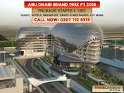 Abu Dhabi Grand Prix 2018 Packages